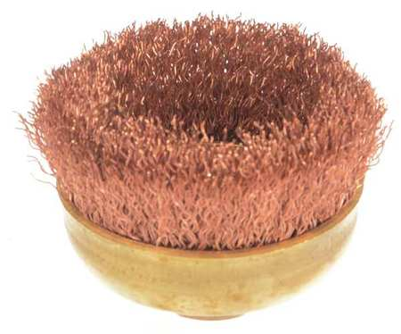 "Crimped Wire Cup Wire Brush,  3"",  0.014"""