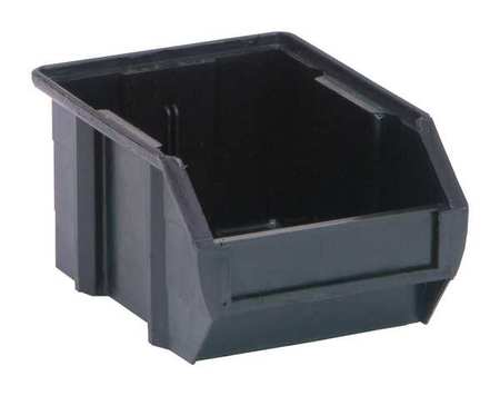 ESD Conductive Bin, 5-3/8x4-1/8x3In, Black
