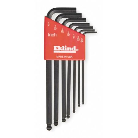 Ball End Hex Key Set, Pieces 7, S4