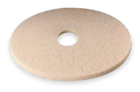 Burnishing Pad, 17 In, Tan, PK5