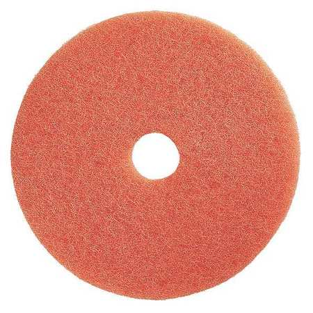Buffing Pad, 20 In, Peach, PK5
