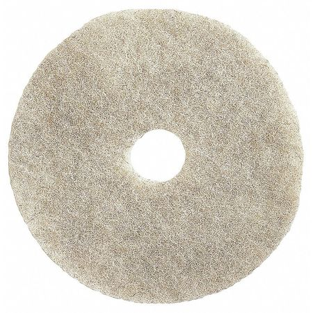 Burnishing Pad, 19 In, White, PK5
