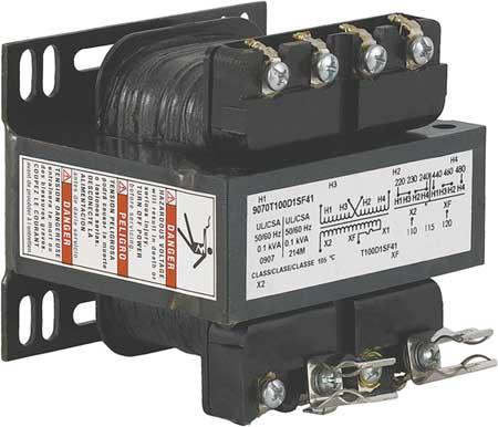 Control Transformer, 100VA, 4.25 In. H
