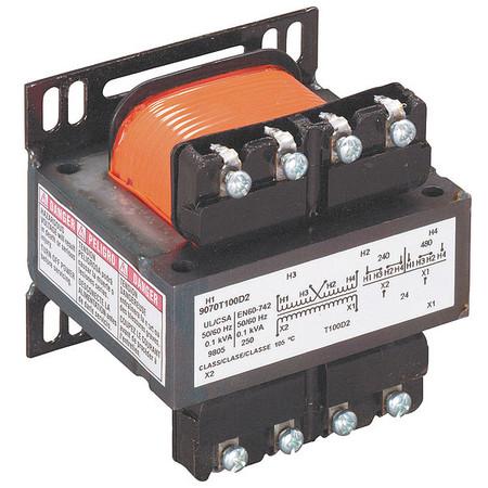 Control Transformer, 100VA, 2.89 In. H