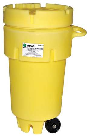 Salvage Drum, Screw Lid, 50 gal., Yellow