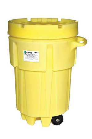 Salvage Drum, Screw Lid, 95 gal., Yellow