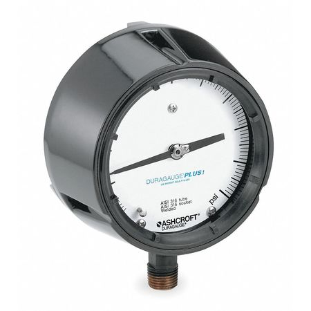 Pressure Gauge, 0 to 600 psi, 4-1/2In