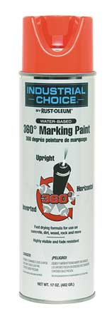 Marking Paint, Fluorescent Red, 17 oz.