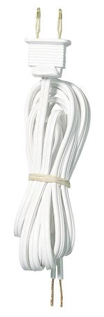 8ft White Cord Set SPT-1
