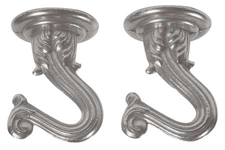 Swag Hooks Brass, Pewter Finish, PK2
