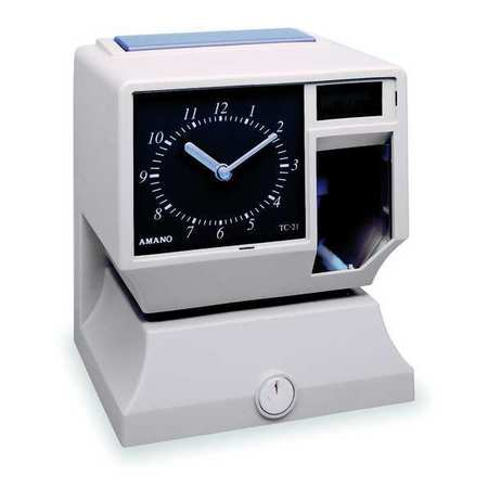 Time Clock,  Analog Dial & LCD Display
