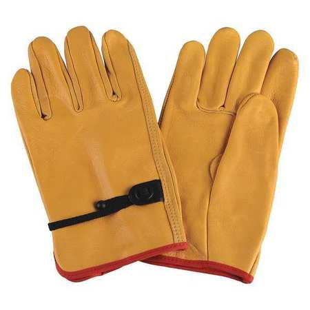 Drivers Gloves, Cowhide, M, Yellow, PR