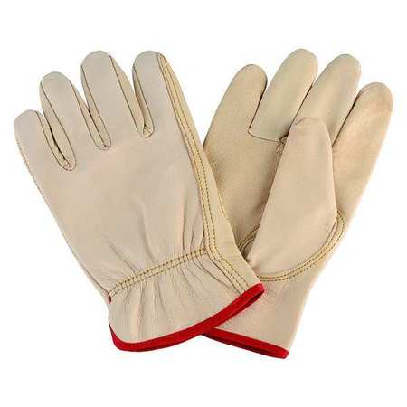 Leather Drivers Glove, Goatskin, Tan, L, PR