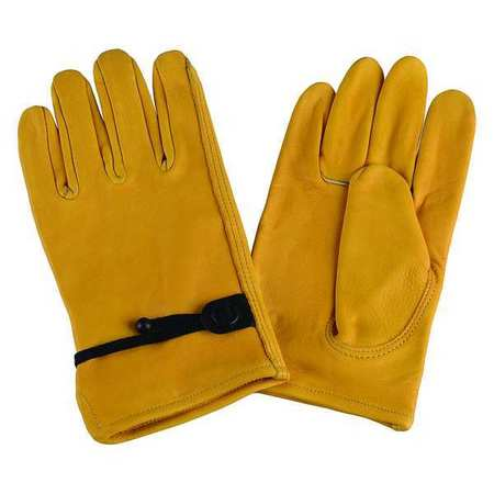 Drivers Gloves, Cowhide, M, Gold, PR