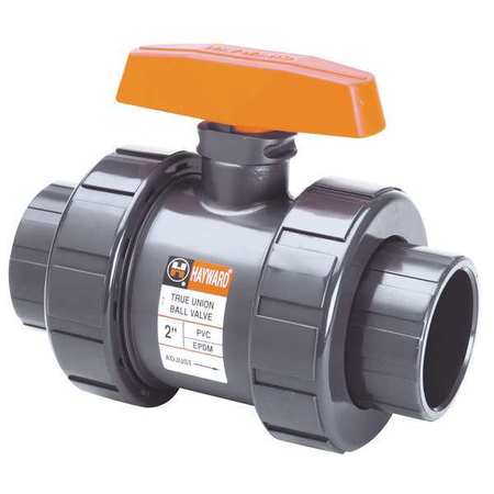 "4"" Socket PVC Ball Valve Inline True Union"