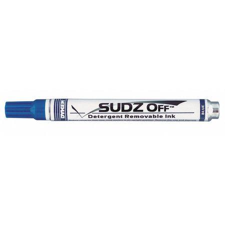 Removable Industrial Marker,  Medium Bullet Tip,  Blue