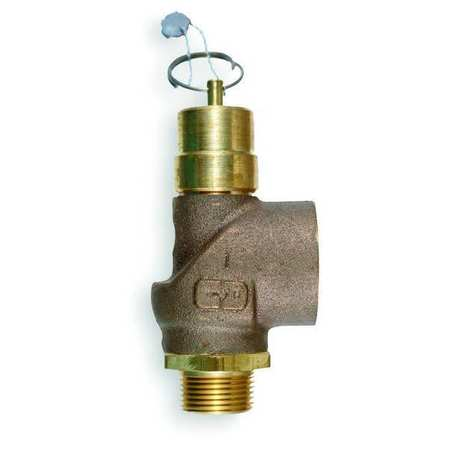 Air Safety Valve, 1/2 In Inlet,  150 psi