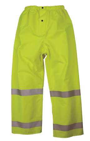 Rain Pants, Hi-Vis Ylw/Green, XL