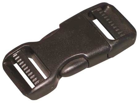 Side Squeeze Buckle, 1 In., Plastic, PK10