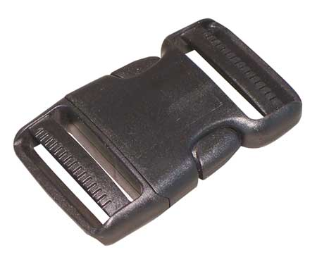 Side Squeeze Buckle, 2 In., Plastic, PK5