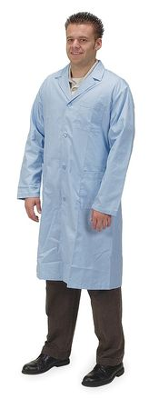 Collared Lab Coat, Male, XL, Light Blue