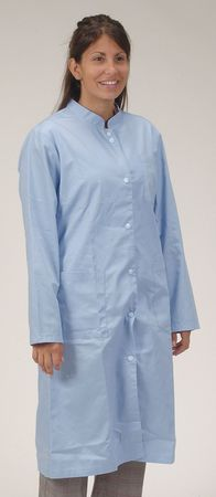 Collared Lab Coat, Female, S, Light Blue