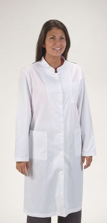 Collared Lab Coat, Female, L, White