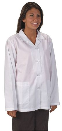 Collared Lab Jacket, Female, L, White