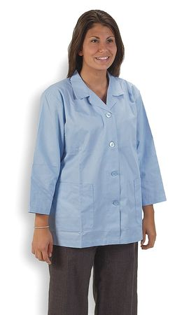 Collared Lab Jacket, Female, S, Light Blue