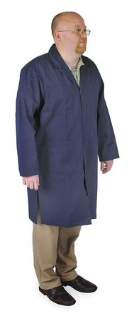Collared Shop Coat, Male, XL, Navy