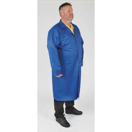 Static Control Collared Lab Coat,  Male, XL, Blue