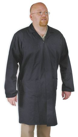 Collared Shop Coat, Male, 2XL, Navy