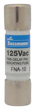 9A Time Delay Cylindrical Fiberglass Fuse 125VAC