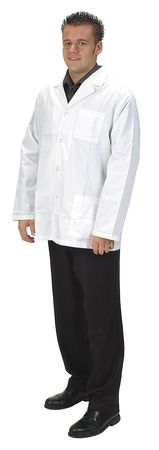 Collared Lab Jacket, Male, 2XL, White