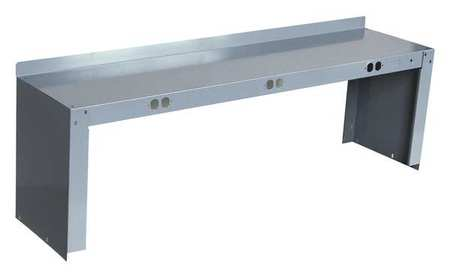 Electrical Shelf Riser, 72Wx15Dx18H, Gray
