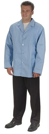 Collared Lab Jacket, Male, 2XL, Light Blue
