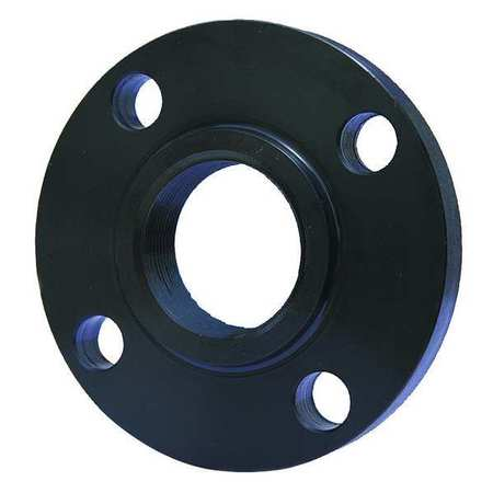 "3/4"" NPT Black Steel Threaded Flange"