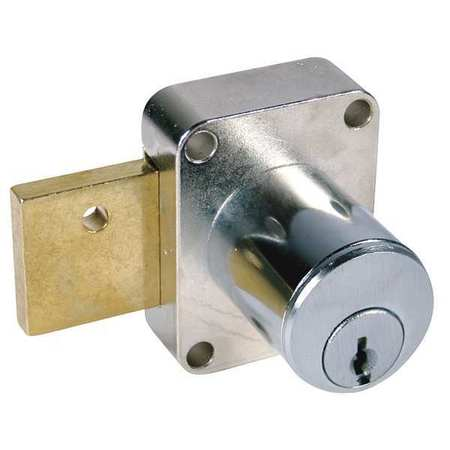 Cabinet Dead Bolt,  Key 101,  Dull Chrome