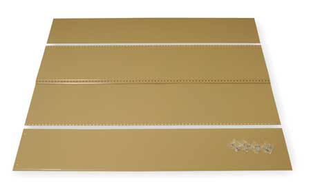 Panel Kit, Tan, 36 In. W, 24 In. D, 85 In. H