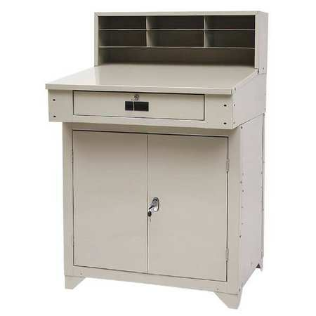 Shop Desk, 34 x 55-1/2 x 30-1/4 In, Beige