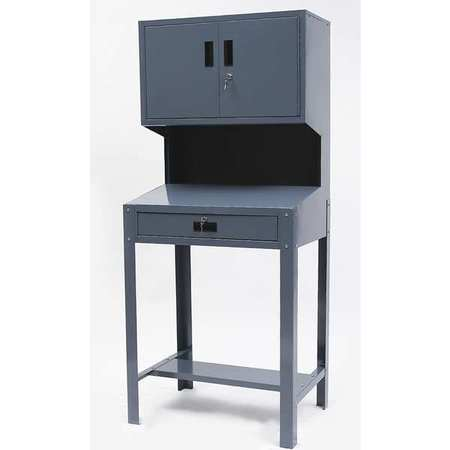 "Lockable Service Writer,  31-1/2""W x 21""D x 72-1/2""H Gray"