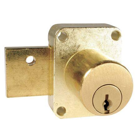 Deadbolt Drawer Lock, Brass