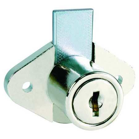 Drawer Dead Bolt, Key C346A, Bright Nickel