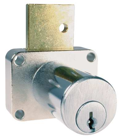 Drawer Dead Bolt,  Key 107,  Dull Chrome