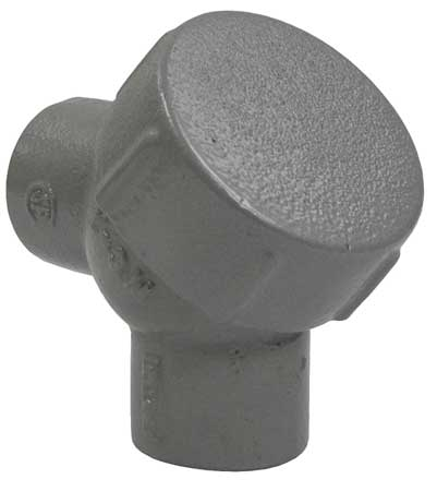 Capped Elbow, 90 Deg, Haz Loc, 1/2In, Iron