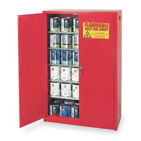 "Paints and Inks Cabinet,  60 gal.,  43""W,  Red"