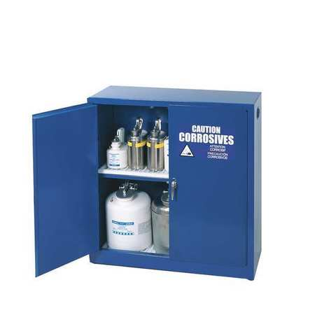 Corrosive Safety Cabinet, 30 gal., Blue