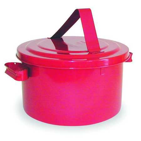 Bench Can, 2 Gal., Galvanized Steel, Red