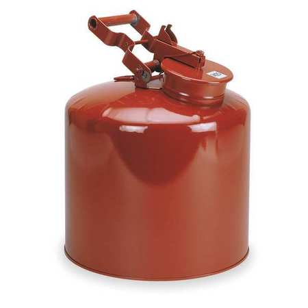 Disposal Can, 5 Gal., Red, Galvanized Steel