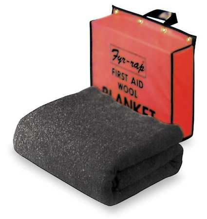 Fire Blanket and Pouch, Wool/Nylon Blend